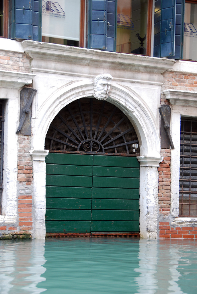 garage door located on a canal